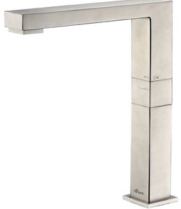 Vogue designer high rise mixer tap in stainless steel