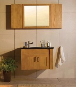 Oak Entice wall-hung washstand