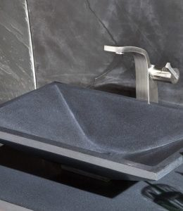 Black granite Karo designer basin