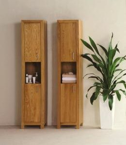 Oak floor standing storage units