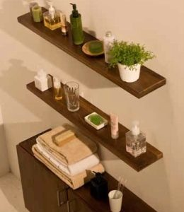 Stonearth wood shelves